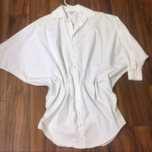 Guess white Button up Shirt with Bolwing Sleeves